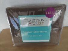 Traditions by Waverly FULL Sheet Set 4pcs Luxury microfiber brand new
