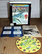 """SECRET WEAPONS OF THE LUFTWAFFE LUCASARTS 3.5"""" FDD VINTAGE MS-DOS GAME BIG BOX!!"""
