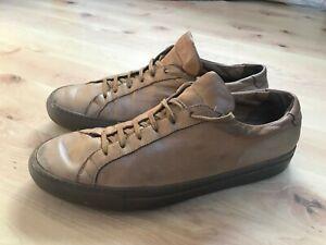 Common Projects Achilles Low Trainers Shoes - Size EU 44 UK 10 Mens Brown