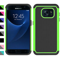 For Samsung Galaxy S7/S7 edge Case Rubber Plastic Hybrid Phone Hard Cover Bumper