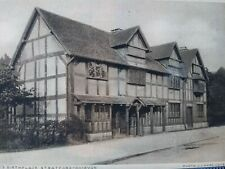Shakespeare Birth Place Post Card Henley St Stratford-Upon-Avon England B/W