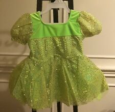 art stone dance costume Girl Green/Sliver Size Small