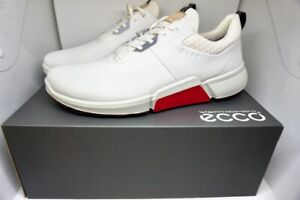 NEW MEN'S ECCO GOLF BIOM H4 GOLF SHOES  SZ: 11-11.5 BLACK & WHITE LEATHER