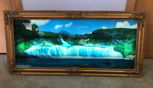 VTG Motion Waterfall Picture Lights & Sound 39x19x3 Niagara 70s LOCAL PICKUP MN