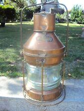 lanterne à petrole (80cm) de bateau ship brass oïl maritime lantern lampe fanal