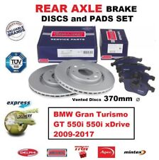 REAR BRAKE PADS + DISCS 370mm for BMW Gran Turismo GT 550i 550i xDrive 2009-2017