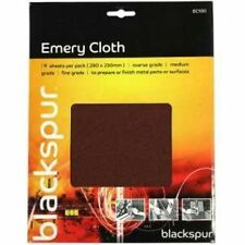 3PC Emery Cloth Pack 3 assorted grits:fine,medium &course.For use on metal EC100