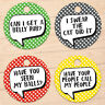 Personalised Cat Dog Collar ID Tag Name Unique Pet Tags 25 mm Pet accessories