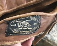 """Vintage All Sporting Goods ? Leather Baseball Mitt 10.5"""" Right Hand Throw"""