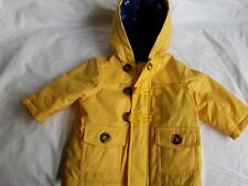 toddlers age 3/6 mths yellow waterproof jacket
