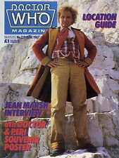 DOCTOR WHO MAGAZINE #125 JEAN MARSH, SIXTH DOCTOR & PERI SOUVENIR POSTER