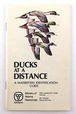 Vintage 1981 Ducks Distance Waterfowl Identification Guide Ontario MNR Book P935