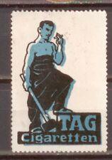 """Reklamemarke """"TAG Cigaretten"""" (Schmied mit Hammer, Amboß und Zigarette)"""