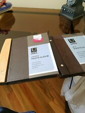 Set Of 2 NEW Awesone Picture Albums, Wood And Leather
