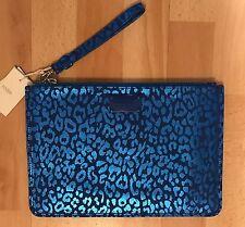 Pochette MAJE Cuir Bleu léopard Neuve Authentique