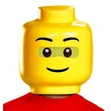 Disguise Lego Guy Costume Mask, One Size Child