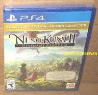 Ni No Kuni II Revenant Kingdom Collector's Edition + Season Pass + DLC PS4 New
