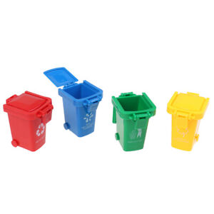 Kid 4pcs/set Trash Can Toy Garbage Truck Cans Curbside Vehicle Bin _A`AU