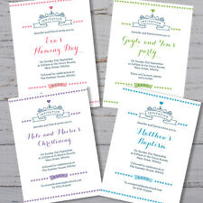 40 Personalised Christening invitations Baptism Naming Day Birthday Party