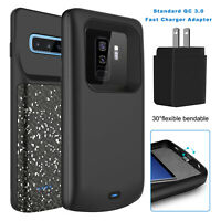 For Samsung Galaxy S10 Plus/S9/S8 Battery Charger Case Power Bank+QC 3.0 Adapter