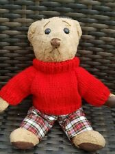 Hand Knitted Jumper for Teddy Bear - Red - teddy clothes
