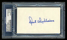 DICK WILLIAMS SIGNED INDEX CARD MINT PSA/DNA SLABBED AUTOGRAPHED HOF AUTO