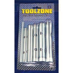 6 Piece 10-19mm Box Tubular Spanner / wrench Set
