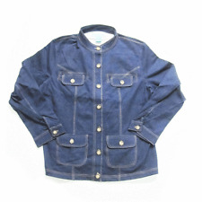 WOMEN'S KNIT DENIM JACKET LADIES SIZE LARGE 14/16 FOUR BUTTON POCKETS BRAND NEW