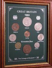 Encadré 1953 pour pièces de monnaie année Set (Rétro 65th Cadeau Anniversaire De Mariage Cadeau)
