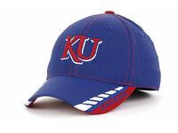 Kansas Jayhawks Blue Flex Fit hat Top of the World NCAA Fastlane Mens Cap