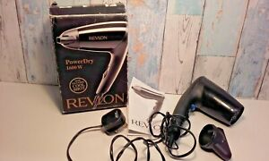 Revlon Power Dry 1600w Electric Hairdryer Boxed Instructions Working