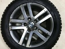 "Genuine VW Golf Touran Jetta 16"" de rechange Atlanta Alliage Roue & Pneu 1K0601025BM"
