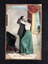 Vintage RPPC: Anonymous People: #B110: Just Hold Your Arm Like This: Posted 1911