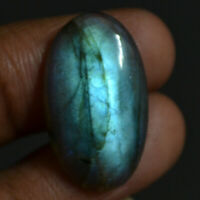 Cts 16.50 Natural Blue Fire Fantastic Labradorite Cabochon Oval Cab Gemstone