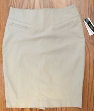 NWT A. Byer Junior's Pull-On Slim Fitting Pencil Skirt Size Small Khaki Stretch