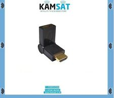 Angled HDMI Female to HDMI Male Coupler Adapter Convertor in Gold Plated