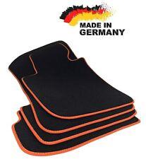 Premium Fußmatten BMW E90 E91 SCHWARZ Hochwertig Velours Orange Original