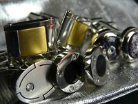 Sale - NEW 4 pairs Mens Cufflinks ex Germani Jewellery Zirconia RRP $220