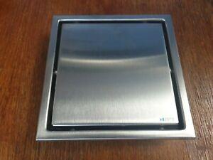Smart Tile Insert Square Waste Grate Drain - 150mm