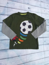 BOYS NEW EX MINI BODEN FOOTBALL APPLIQUÉ TOP TSHIRT 2 3 4 5 6 YEARS GREEN