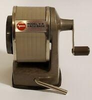 Vintage Apsco Hand Crank Pencil Sharpener Model V-8 Vacu Base Home Office School
