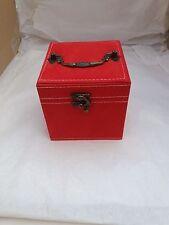 Lovely rosso peluche in velluto portagioie Quadrato-regalo ideale