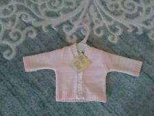 Bee Bo Baby, Premiture/ Early Knitted Cardigan, Size 3 To 5 Ibs Baby, Pink &...