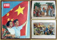 1954 Soviet Russian magazine OGONEK China Mao Zedong, Qi Baishi, Li Qun, Gu Yuan