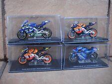 SET OF 4 IXO 1:24 MOTO GP '03 MOTORCYCLES HONDA RC211 YAMAHA YZR-M1 ROSSI HAYDEN