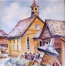 LORETTA NETZEL Carson City Nevada small painting Bodie California Old Church