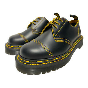 Dr. Martens 1461 BEX Double Stitch 3 Eye Oxfords BLACK Smooth Leather Women's 7