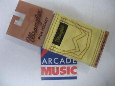 Wrangler  pick pocket for plectrums attaches to guitar strap colour sun flower.