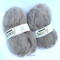 2-50 GR SKEINS BERNAT SWEETY 80% ACRYLIC 10% MOHAIR 10% WOOL MADE IN FRANCE NEW