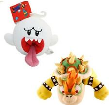Nwt Super Mario Brothers bowser King Koopa & Boo Ghost Plush Doll Toys Set of 2